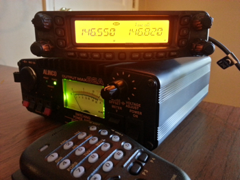 A typical ham radio, the Yaesu FT-8900R